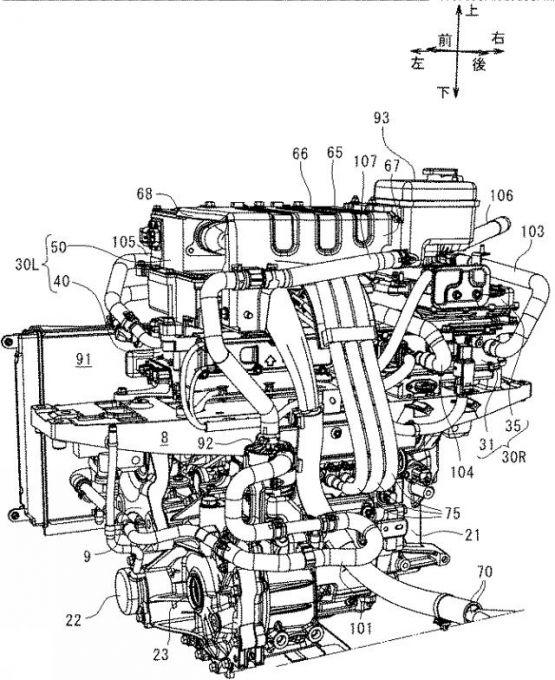 マツダ、EVのモータルーム内ユニット配置で特許を出願