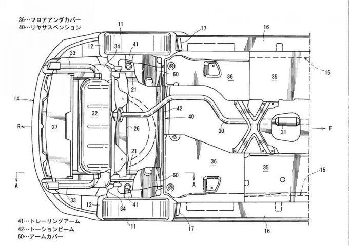 マツダ、Mazda3の車体構造に関する特許をどどっと出願