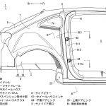 [特許]マツダ、フリースタイルドアを考慮した車体構造の特許を出願
