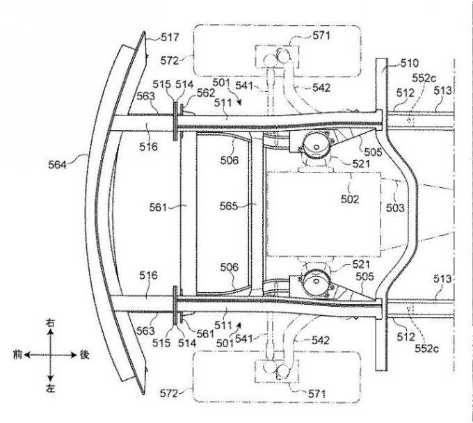 マツダ、縦置きエンジン+FRのサブフレーム構造を特許出願