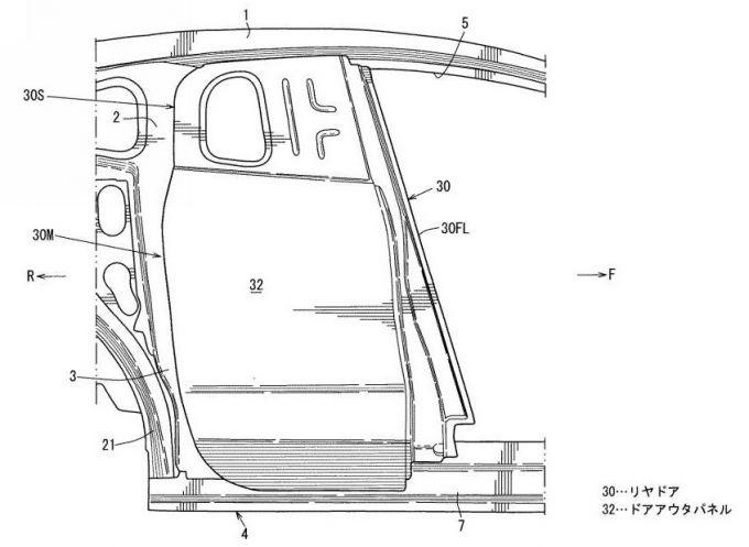[特許]マツダ、観音開きドアの構造で特許を出願