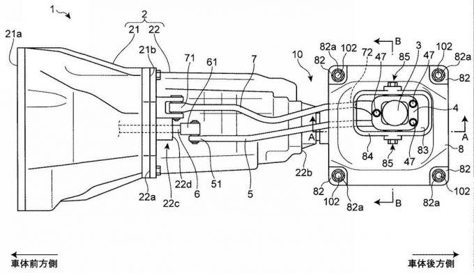マツダ、FR用手動変速機と8速自動変速機の特許を出願