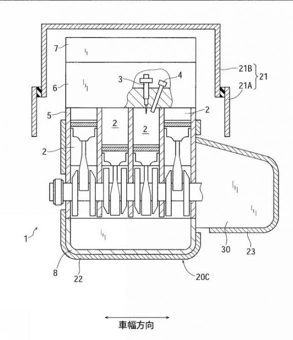 マツダ、異なる燃焼形態をもつENG冷却に関した特許を出願