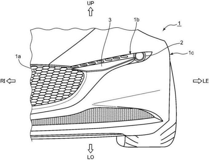 マツダ、ヘッドライトの特許を出願、ラージ商品群向け?
