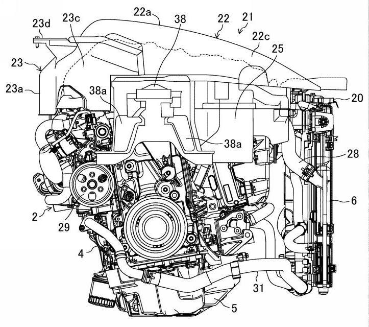マツダ、SKY-Xの吸気装置及びその組立方法の特許を出願