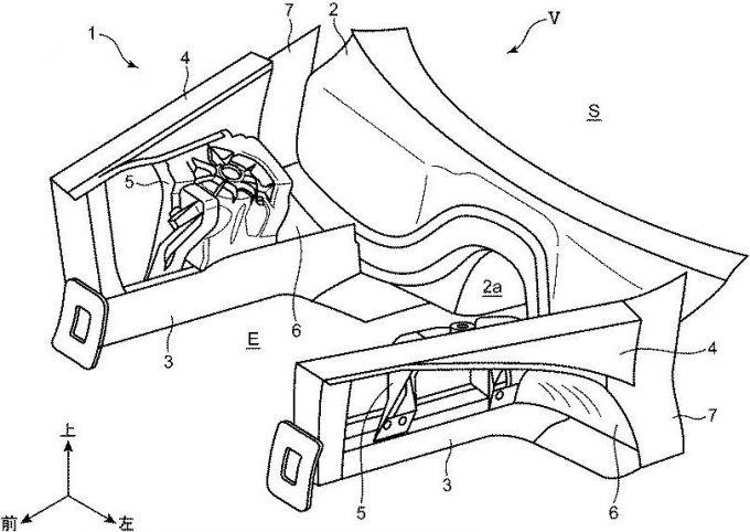 マツダ、FR車のFRサスペンションまわりの構造で特許を出願