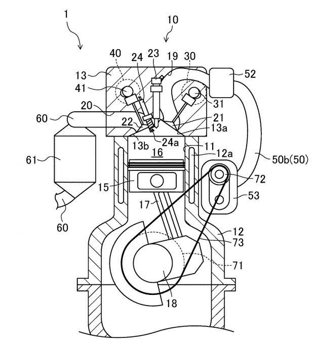 マツダ、圧縮自着火燃焼2ストロークエンジンの特許を出願