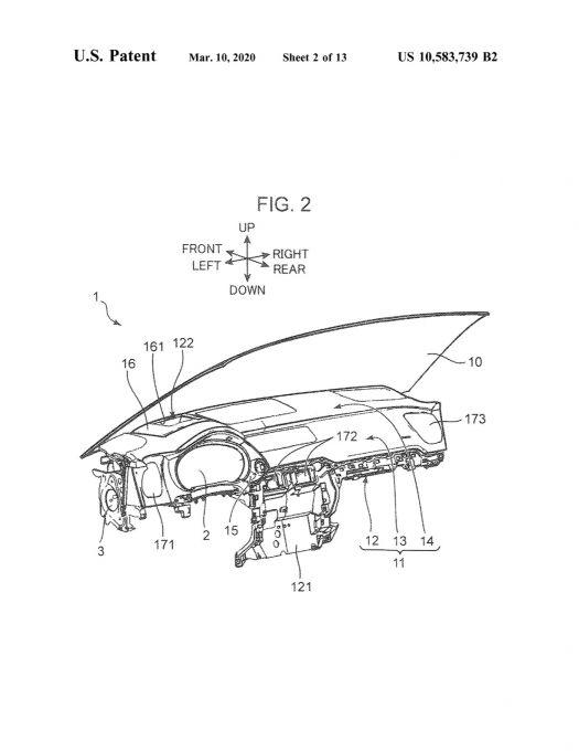 マツダ、アメリカでCX-9のインパネ構造に関する特許を出願