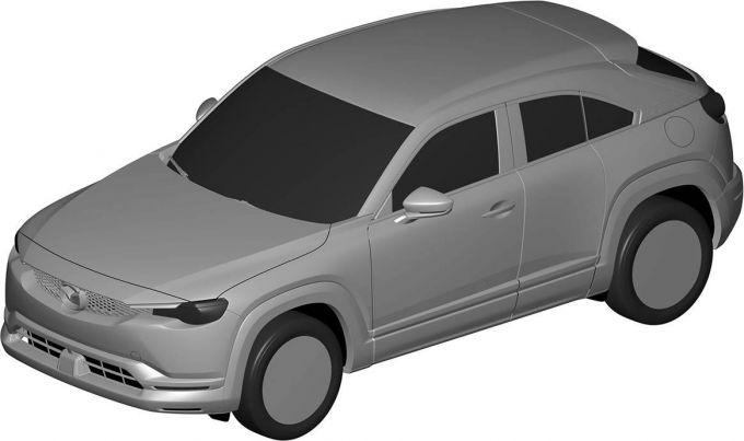 マツダ、MX-30のエクステリアデザインを登録
