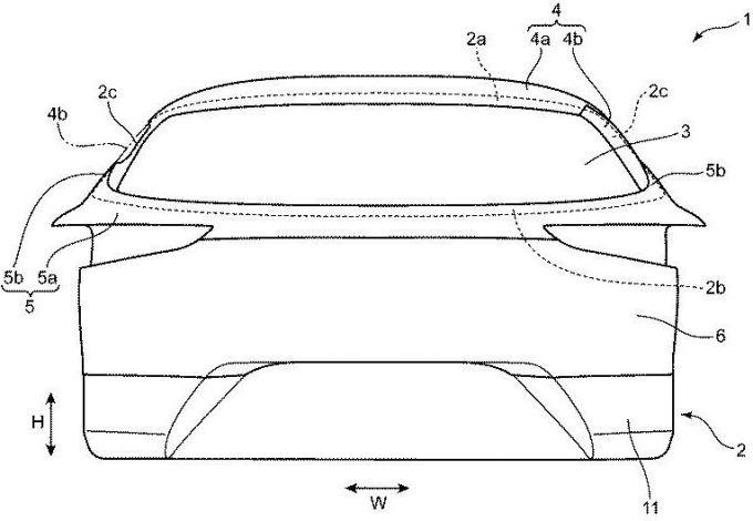 マツダ、車体構造に関する数多くの特許を出願