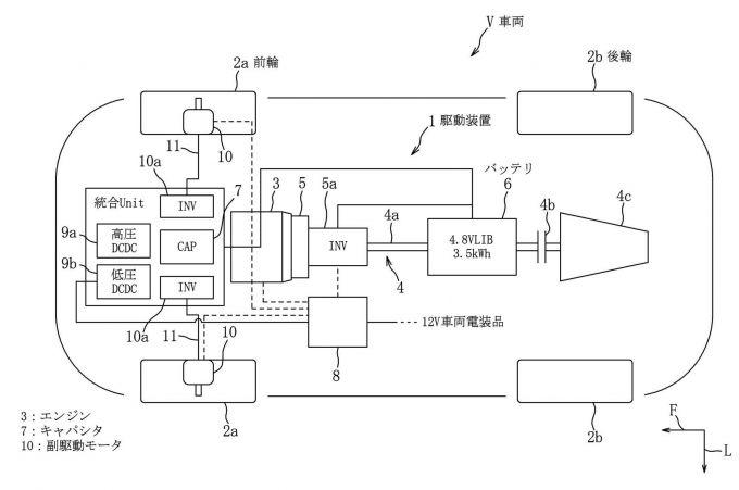 マツダ、インホイールモータとキャパシタに関する特許出願