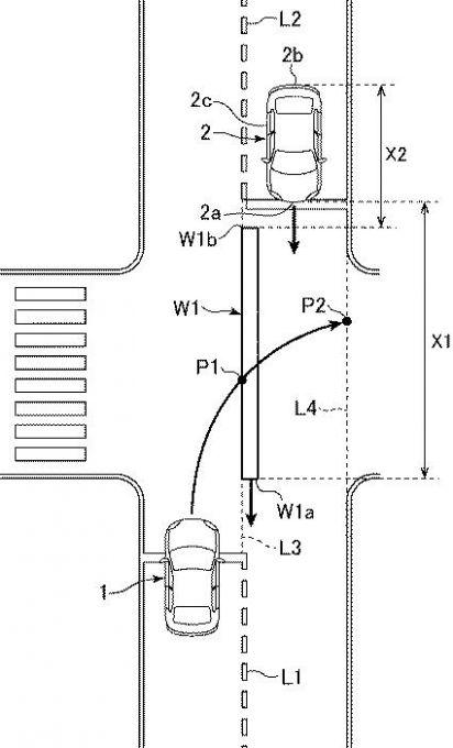 マツダ、右折時の衝突回避に関する特許を出願