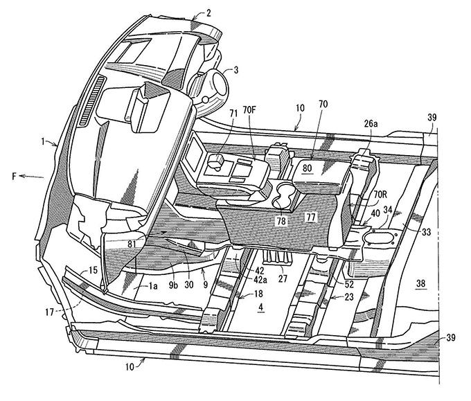 マツダ、電動車両のフロア構造に関する特許を出願