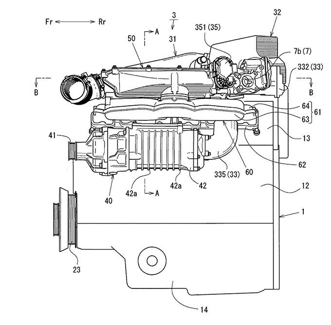 マツダ、多気筒エンジンの吸気装置に関する特許を出願