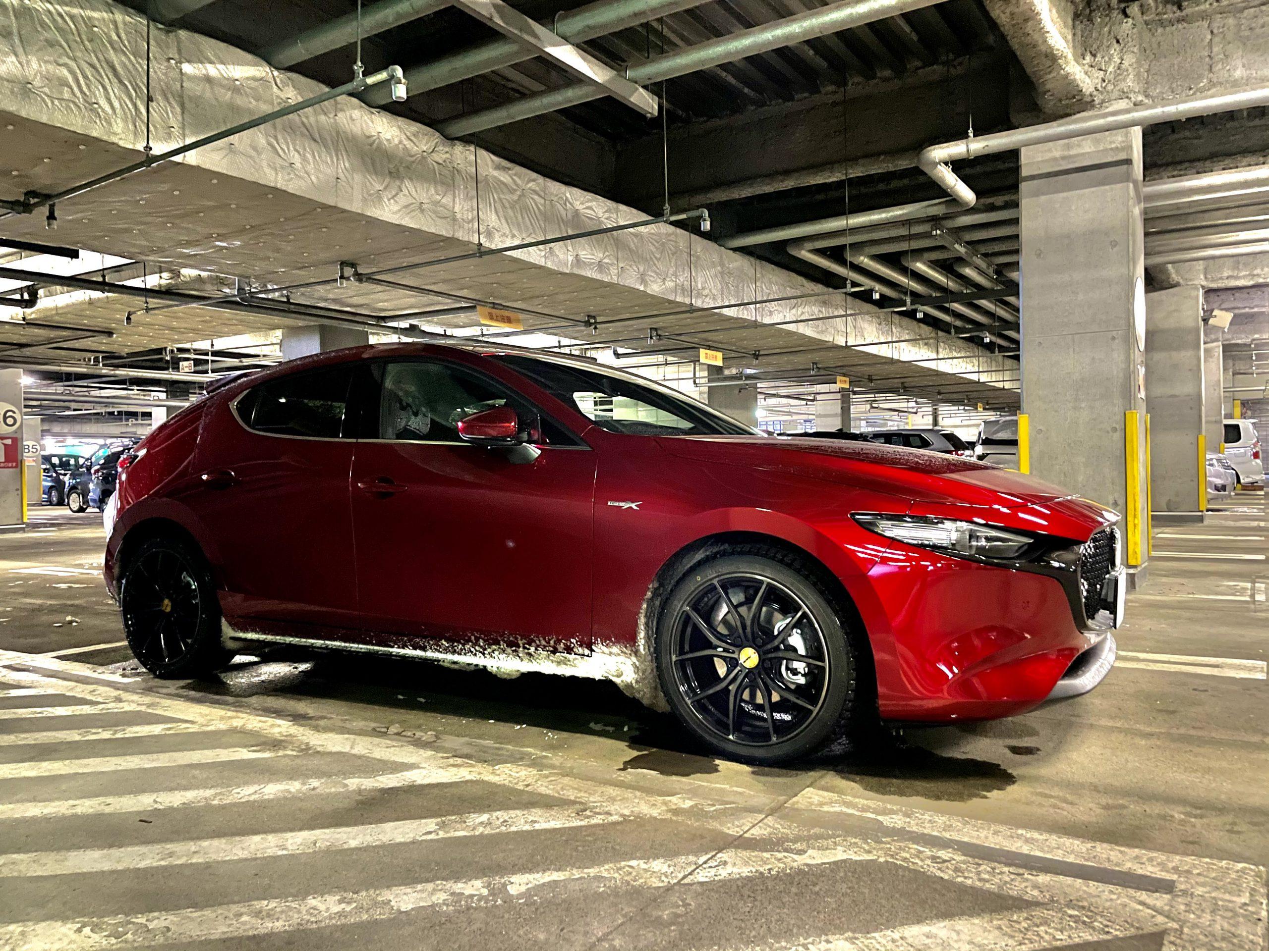 Mazda3(BPEP)納車後28日目、1ヶ月点検と1000km