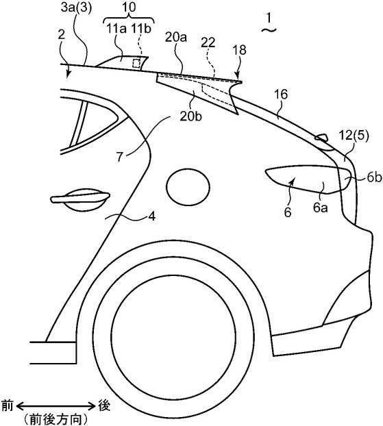 マツダ、V2X通信用アンテナを備える車両の上部構造に関する特許を出願