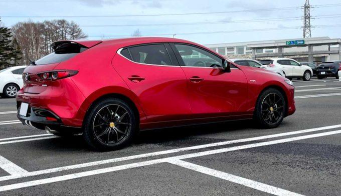 Mazda3(BPEP)納車後43日目、コーティング点検