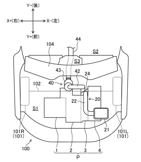 マツダ、ロータリーエンジンの後方吸気に関する特許を出願