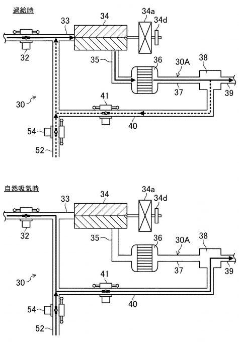 マツダ、小型化と静粛性を両立した過給機付ENGの特許取得