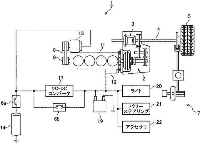 マツダ、ハイブリッド車両の電源制御装置に関する特許を出願