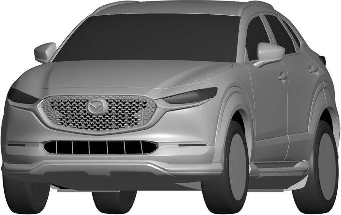 マツダ、CX-30 EVのエクステリアデザインを登録