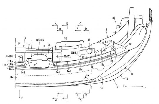 [特許]マツダ、MX-30の前部構造に関する特許を複数出願 width=