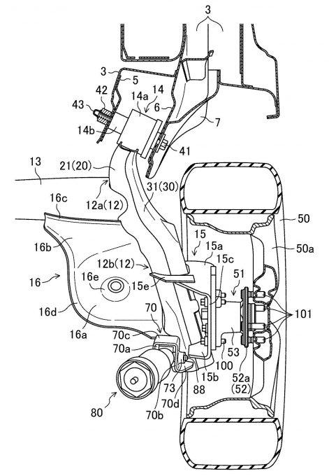 マツダ、トーションビーム式サスの構造で特許を取得
