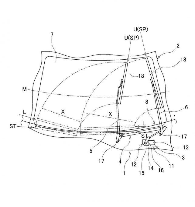 マツダ、FRガラスの損傷を防止するワイパーの特許出願