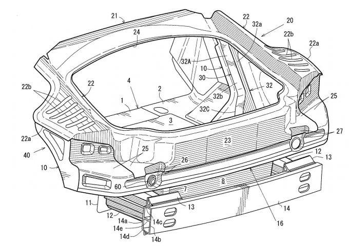 マツダ、クーペボディを想定した車体構造の特許出願