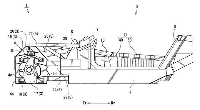 マツダ、スペースフレーム構造を持つ車体構造の特許取得