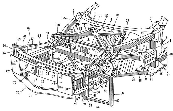 マツダ、スペースフレームを持つ車両に関する特許を出願