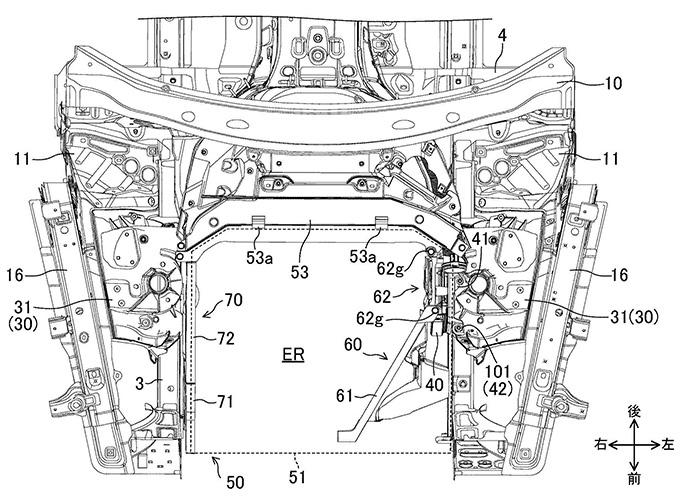 マツダ、ラージ商品群のエンジンカプセルカバーの特許出願