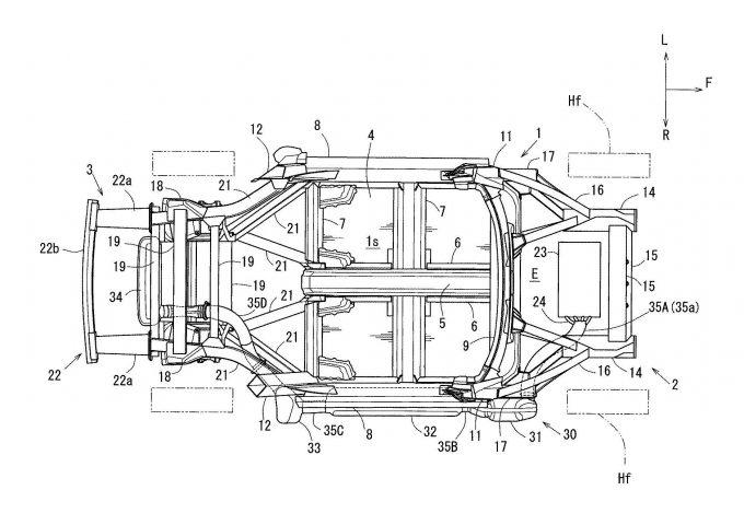 マツダ、2ドアスポーツカーの側部車体構造で特許出願