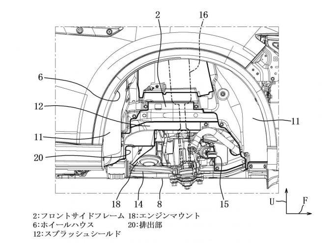 マツダ、ラージ向けエンジンルーム排熱構造で特許を出願