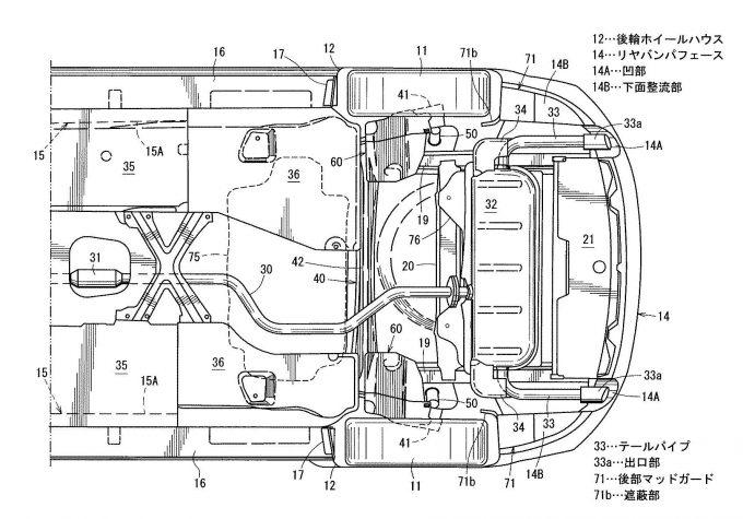 マツダ、スモール商品群の下部構造で特許を取得