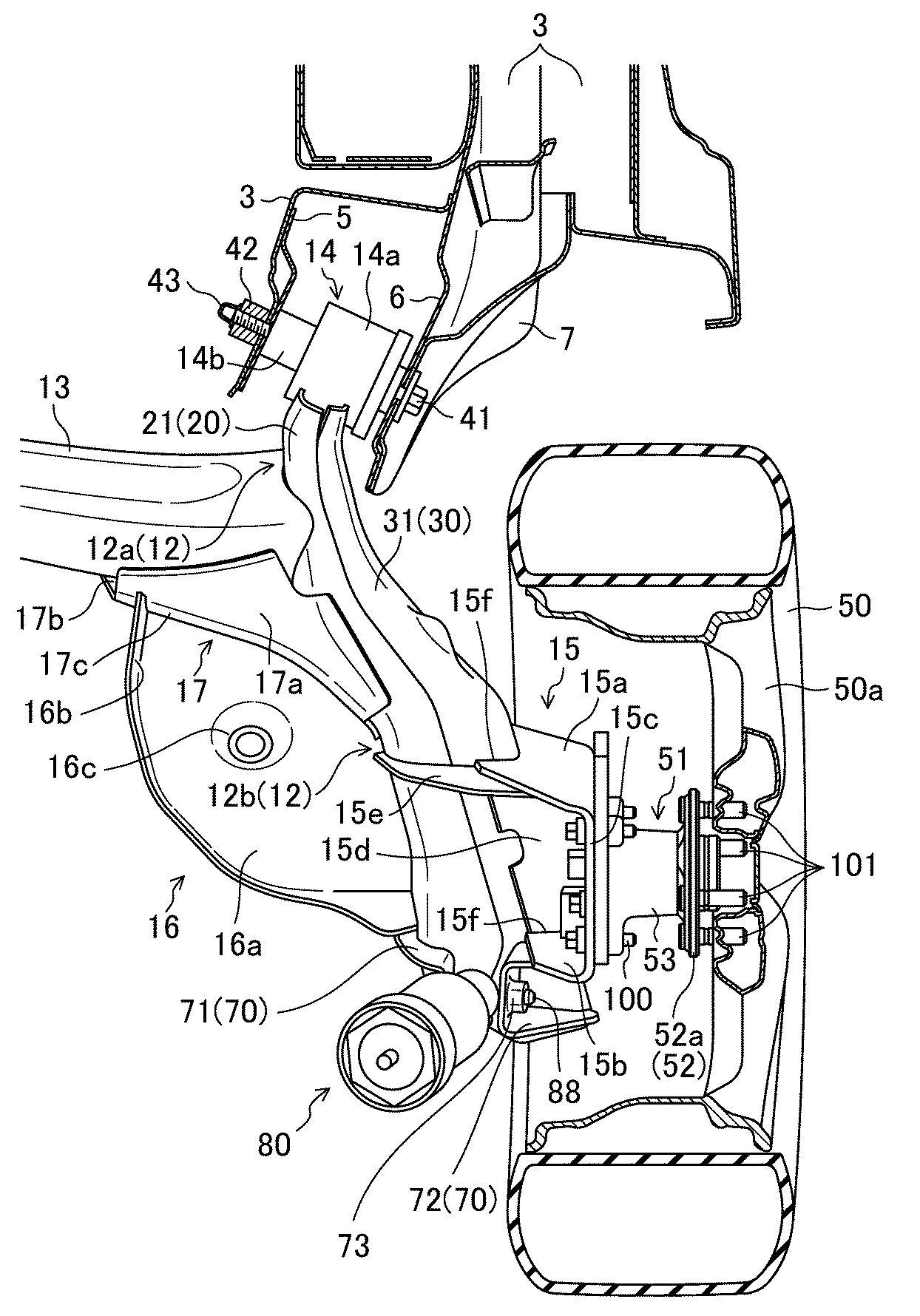 マツダ、サスペンションのダンパブラケットの構造で特許