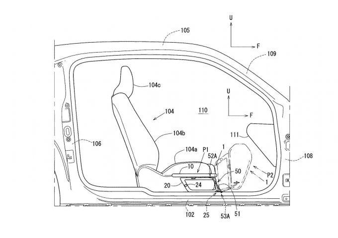 マツダ、MX-30福祉車両向け乗降補助装置の特許出願