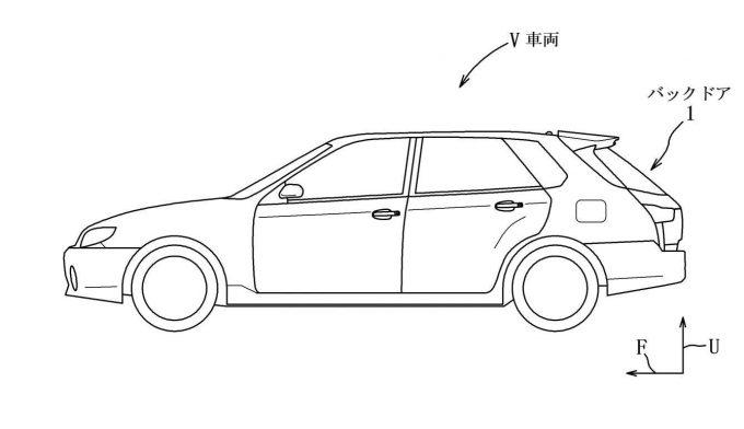 マツダ、バックドアの構造に関する特許を出願