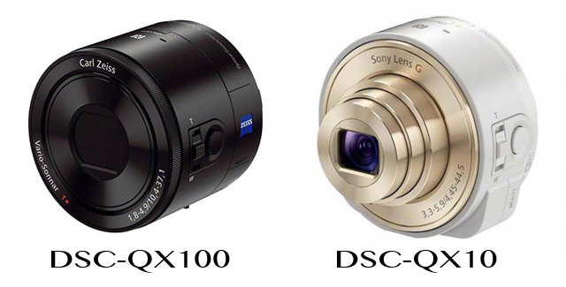 DSC-QX100 and QX-10