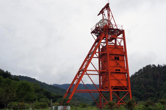 石炭を運び出すのに用いた立坑巻き上げ機